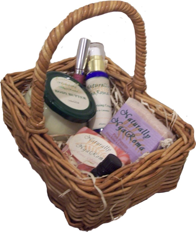 Handmade Pack Basket : Natural mineral cosmetic handmade soap and skincare by